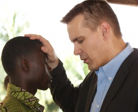 Pastor Eric ministering in the Volta Region of Ghana