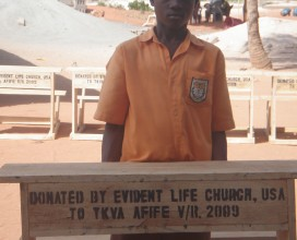 Evident Life Church donated desks and furniture to the King's Voice Academy.